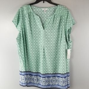 NWT Croft & Barrow Light Weight Top size 2X